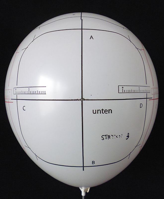 5 seitigerBallondruck, Perfekt-Druck, im Siebdruckverfahren auf vom Ballonpoint