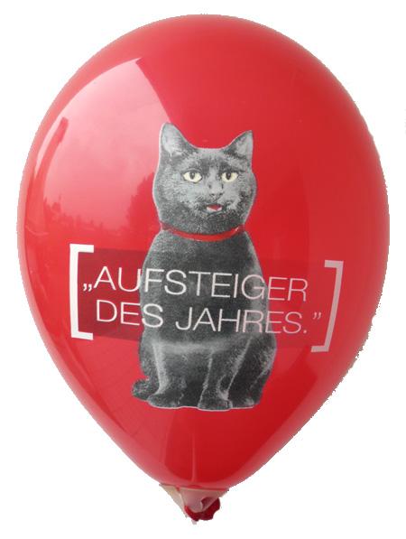 CMYK Perfekt-Druck auf unsere Luftballons der schöne Mehrfarbenaufdruck in Siebdruckverfahren auf roten Ballon vom Ballonpoint