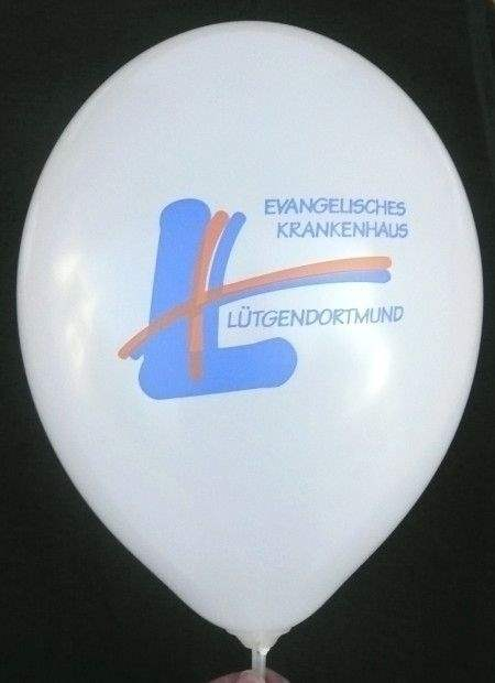 "Ø 33cm ORANGE, 2seitig 2farbig "" passgenau "" bedruckter Werbeluftballon WR100-22PD, Ballonstutzen unten"