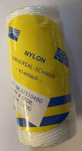 Poly  Ballonschnur Weiss  2,2mm gedrillt elastisch in weiß