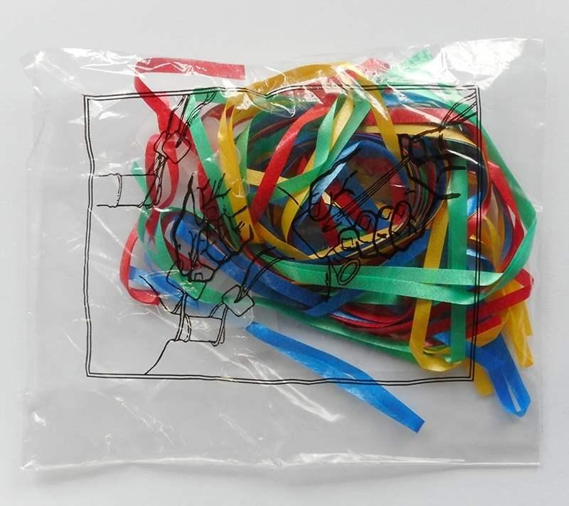 ZF4-bunter Mix Verpackungseinheiten  zu je 10 Stück verpackt. Ballon-Schnellverschlüsse in Verpackungseinheiten