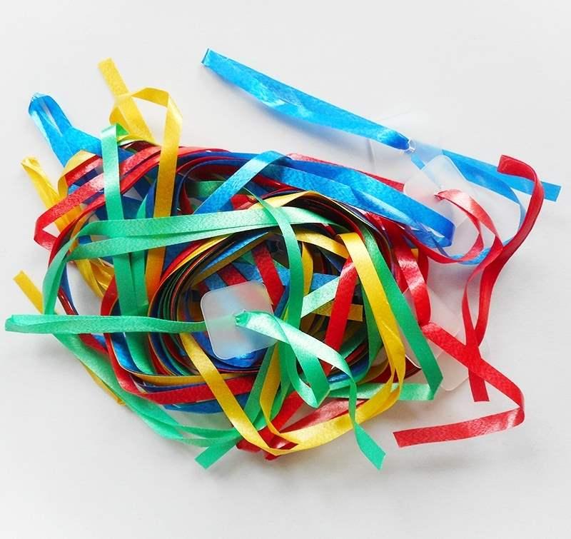 ZF4-bunter Mix Verpackungseinheiten  zu je 100 Stück verpackt. Ballon-Schnellverschlüsse in Verpackungseinheiten