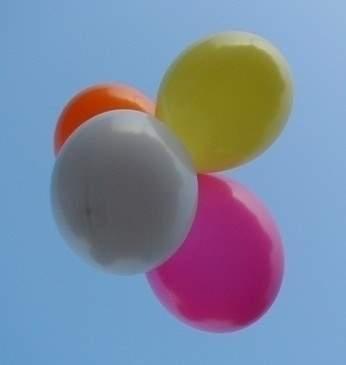 RG240 Ø~90cm (36inch) - unbedruckt. Dekorations-Riesenballon Ballonfarbe Bunter Mix gemäß Farbtabelle. Größe Typ XS