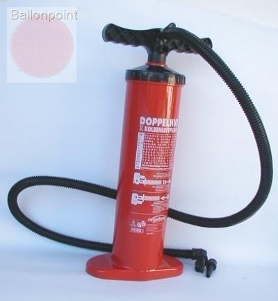 DH-P20013 Hand-Doppelhub-Pumpe mit 2 Liter Volumen je Hub, zum Aufblasen von kleinen Riesenballons
