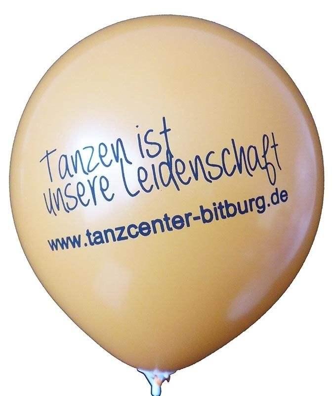 Ø 28/35/39cm extra stark, Ballonfarbe nach Angabe, 1-2seitig 1farbig bedruckt Werbeluftballon, Druck in Siebdrucktechnik