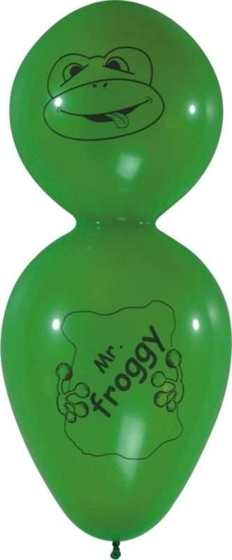 F12f Mr. Froggy ~55cm groß, Latexfigur, Ballonfarbe nach Auswahl, mit Standardaufdruck ohne Zubehör.