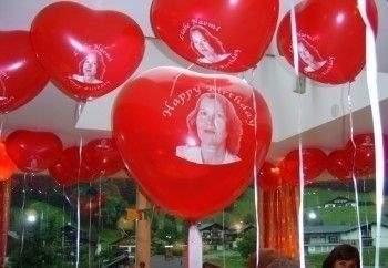 H070N HERZ 70cm breit,  Hellbllau, unbedruckt,  extra starke Herzballons