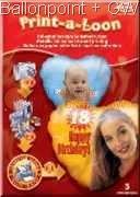 FOL-Print 18cm Herzfolienballon für den Selbsdruck