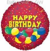 """FOBM045-5038E Folienballon """"Confetti Birthday"""""""