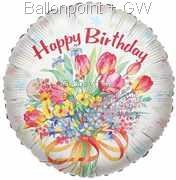 "FOBM045-5048E Folienballon ""Birthday Tulps"""