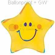 FOBM045-665063E Folienballon Ø~45cm (18 inch)Smiley Star ohne Text