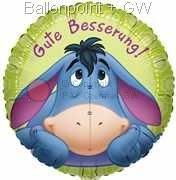 """FOBM045-5537E Folienballon Rund 45cm  (18"""") Motiv: Eeyore Gute Besserung"""
