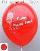 Neujahrs-Ballon Ballonfarbe bunt-sortiert Ø28cm