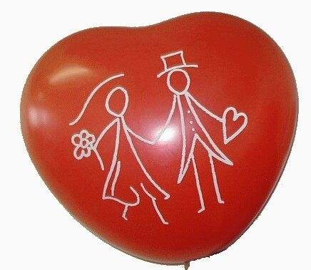 MH070n-101-21-HO09 big motiv-heart size ca.70cm Balloon color red