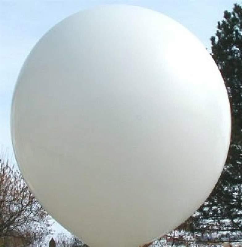 RC500-15 Künstlerballon Climb In, Riesenluftballon Größe max. 160cm Halsbreite ~15cm Ballonfarbe WEISS, Standardausführung