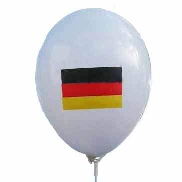 MR100B-2002-13-FL-DE Deutsche Flagge Aufdruck auf Ballon ~Ø33cm 1seitig 3C bedruckte