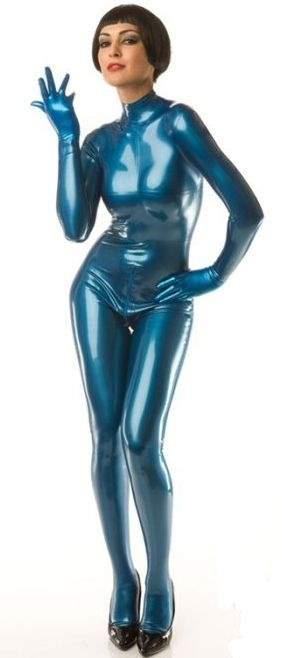 LF025100-M040 LATEX-Folie in Metallic Metallic (Perlglanz) Blau, Meterware Bahnbreite 1m