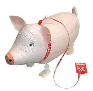Schweinchen Airwalker, Glücksschwein 62cm groß, ungefüllt Art.Kat F400