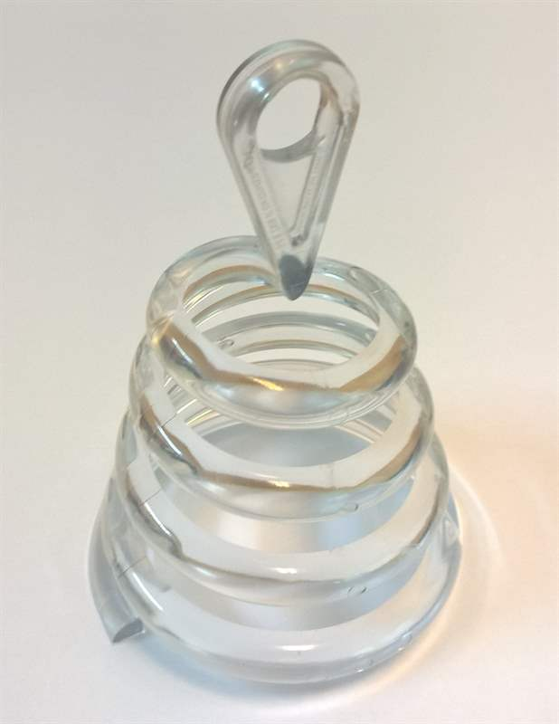 BALL-G Ballongewicht 30g Form Spirale Transparent klar