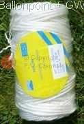 Ballonschnur 3mm gedrillt elastisch, Rolle zu 100m
