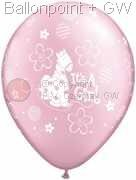 R085Q-0246-Latexballon Rund Geburt Ø28cm, Druck It's a Girl - Soft Pony