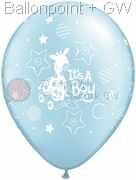 R085Q-0247-R nominal size 28cm roundballoon Colours skyblue, It's a Boy Soft GiraffePony