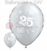 R085Q-0062-Latexballon Rund Glückwunsch Ø28cm, Druck -25- Rundum in Weiß