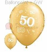 "R085Q-0063-R nominal size 28cm roundballoon Colours gold, "" 50 "" A-round"