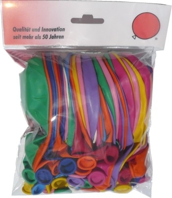 BR100L-299-100 Ø35cm, pastel assorted, ballons in EURO Norm Pack 150mm wide