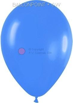 R85S-042-00 FS Rundballon in Perl Blau  Ø~25/34cm mit einem Umfang ~80/92cm