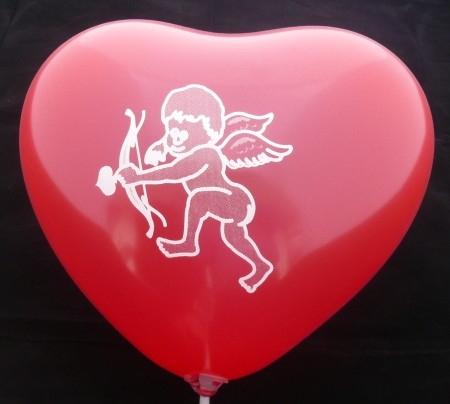 MH040n-101-11H-HO04 40cm Herz in Rot bedruckt mit unserem Amor