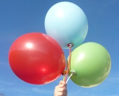 R85U-00-M Ø~28cm extra starker Rundballon, Ballonfarbe nach Auswahl aus ~20 Farben