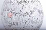 STR045-MQ012-25 Ø45cm Hochzeits Stufferballon bedruckt mit - Alles Gute -, Transparent