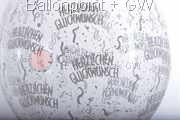 STR045-MQ013-25 Ø45cm Hochzeits Stufferballon bedruckt mit - Herzlichen Glückwunsch -, Transparent