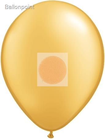 R085B-4060-00-U Ø28cm Metallic Rundballon, Ballonfarbe Gold Standardqualität, unbedruckt