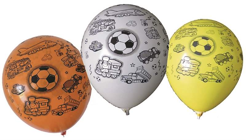 BMR100-2999-51H-Boy motiv balloon, balloncolor assortet, price per SB pack with 5 piece