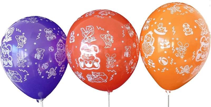 BMR100-2999-51H-Girl motiv balloon, balloncolor assortet, price per SB pack with 5 piece