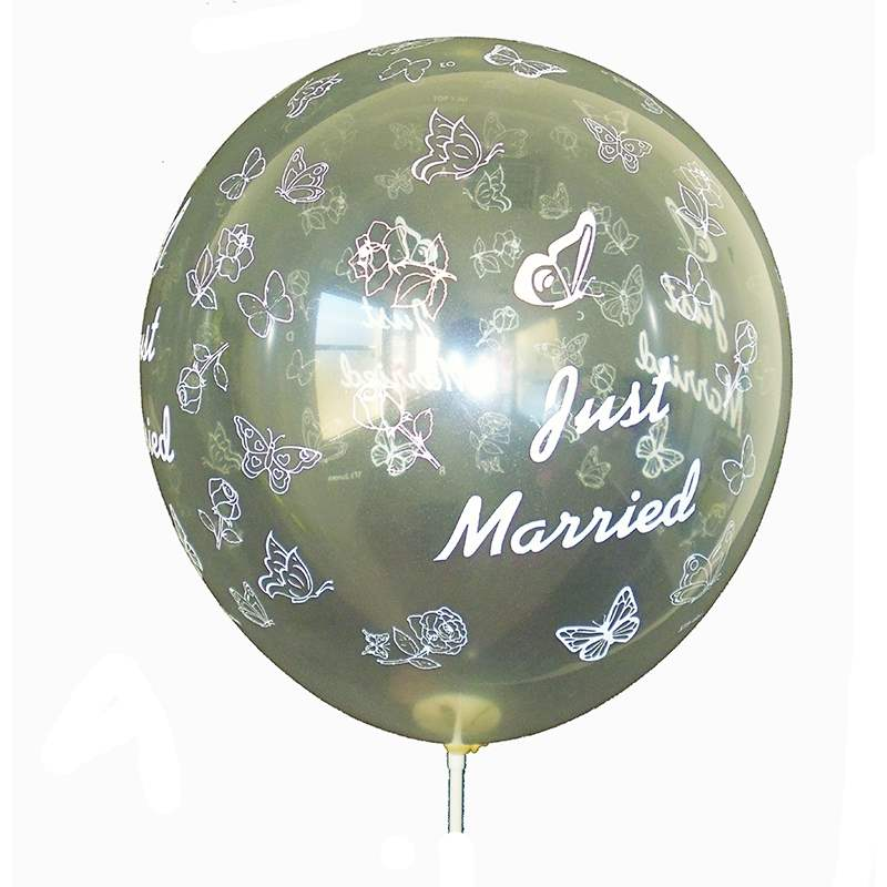 BMR100-51 wedding motiv balloon, balloncolor Diamond , price per piece, 5 site printed