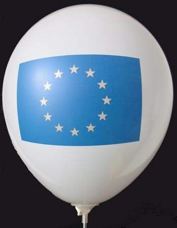 MR100B-2002-12-FL-EU EUROPA Flagge ~Ø33cm precession print one site 2C, Balloons white