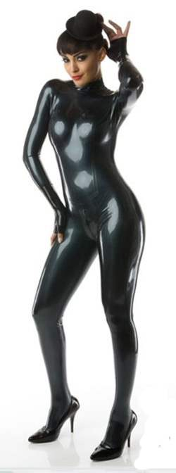 LF025100-M100 LATEX-Folie in Metallic Schwarz