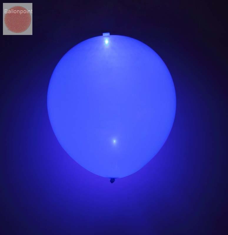 LED-Ballons-1202005 LED-Ballonset mit 5 Ballone Farbe BLAU inkl. integrierte LED Lampe