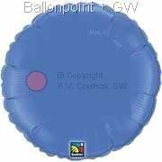 "FOBR045-029BA Uni-Folienballon Ballonfarbe Lichtblau, Form Rund Ø 45cm (18"") unaufgeblasen"