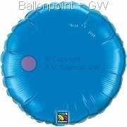 "FOBR045-043BA Uni-Folienballon Ballonfarbe Saphirblau, Form Rund Ø 45cm (18"") unaufgeblasen"