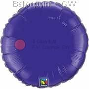 "FOBR045-044BA Uni-Folienballon Ballonfarbe Violett, Form Rund Ø 45cm (18"") unaufgeblasen"