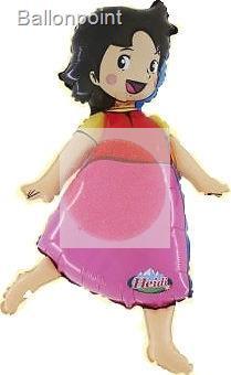 "FOBF090-0139392F  Heidi (N)  met. Folienballon (37""), auch in NON metallic erhältlich, Artikel Kategorie E F090"