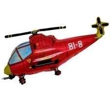"""FOBF103-1032624F  Hubschrauber in Rot Folienballon (29""""), Artikel Kategorie E F090"""