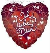"""FOBH045-665084DE Motiv Liebe 45cm(18"""") , Herz-Folienballon"""