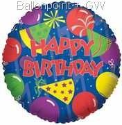 FOBM045-5009E Folienballon Party Hat Birthday