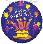 "FOBM045-5039E ""Birthday-Cake"" Folienballon Ø45cm - 18inch"