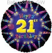 FOBM045-5076E 21ter Birthday-Candle Folienballon